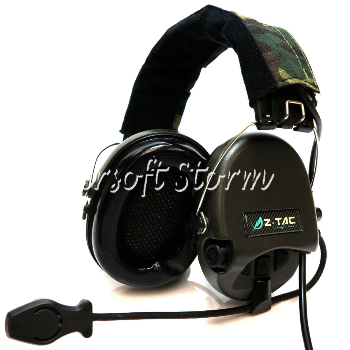 Airsoft Gear SWAT Element Sordin Style Tactical Headset Woodland Camo