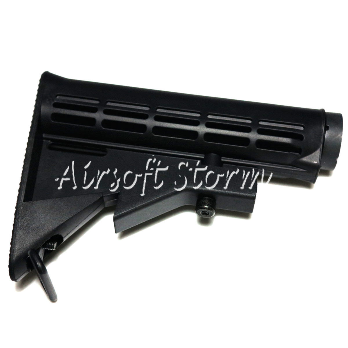 Airsoft Tactical Gear E&C 6 Position Sliding Stock with Pipe for HK416/M4/M16 AEG