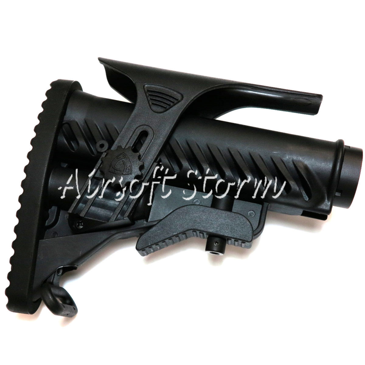 Airsoft Tactical Gear APS M4A64 Shark Style M4 Stock with Cheek Piece Set Black