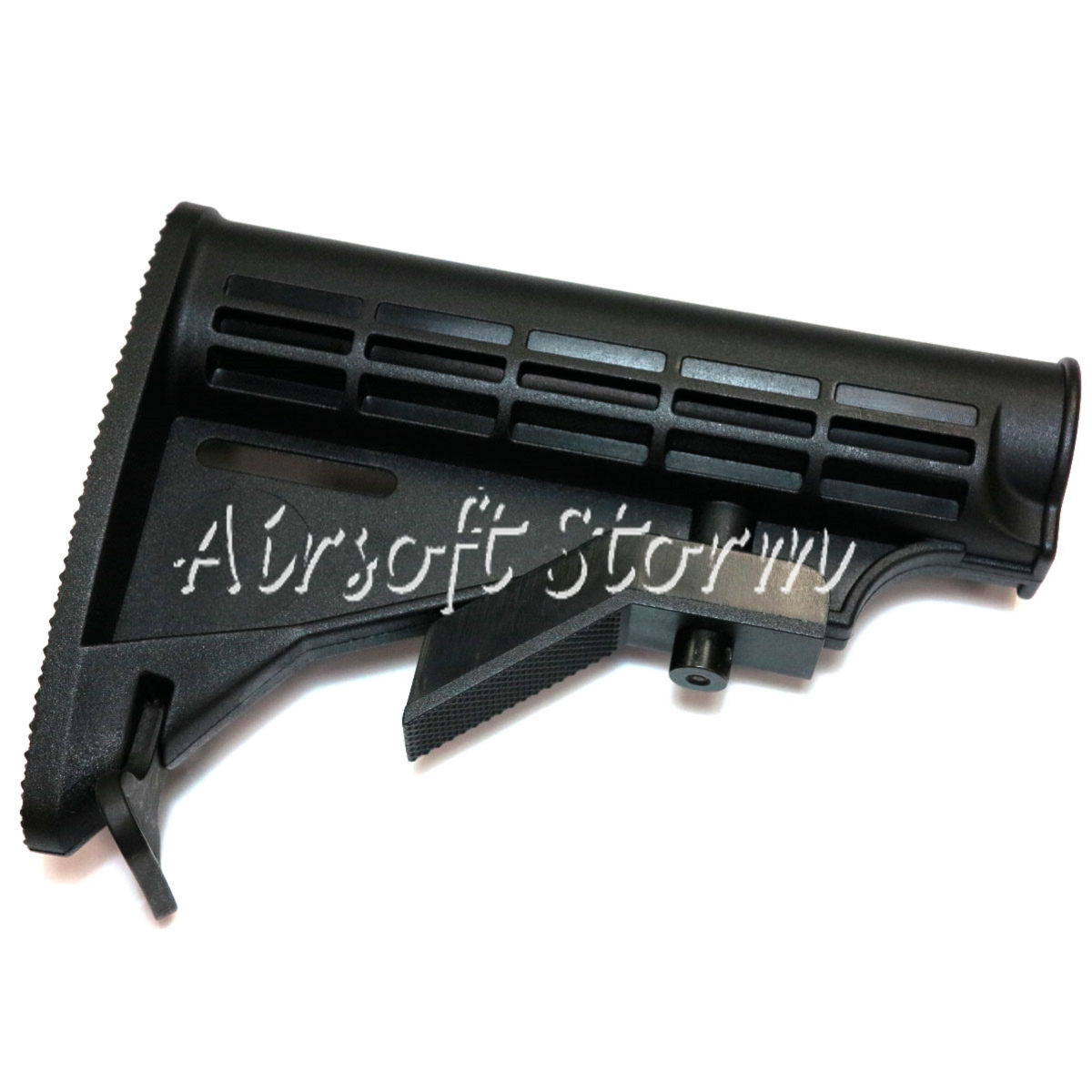 Airsoft Tactical Gear D-Boys 6 Position Sliding Stock for HK416 / M4 / M16 AEG Black