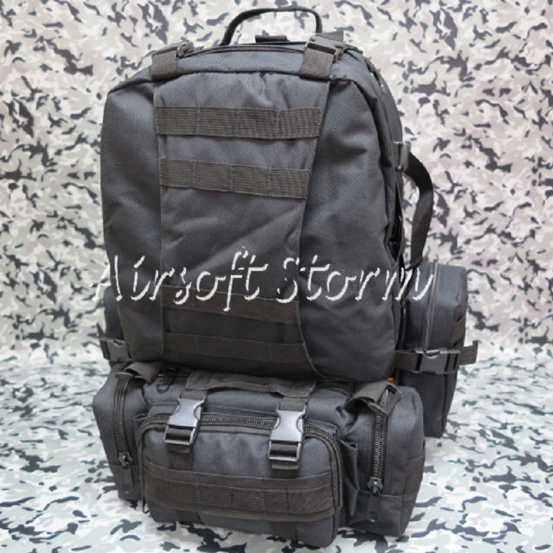 Airsoft SWAT CamelPack Tactical Molle Assault Backpack Bag Black