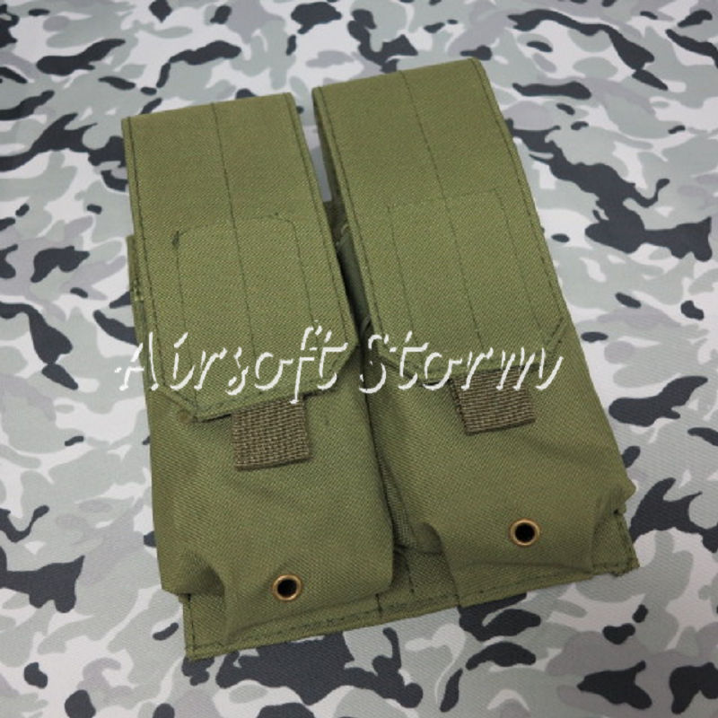 Airsoft SWAT Tactical Molle Assault Combat Double Magazine Pouch Olive Drab OD