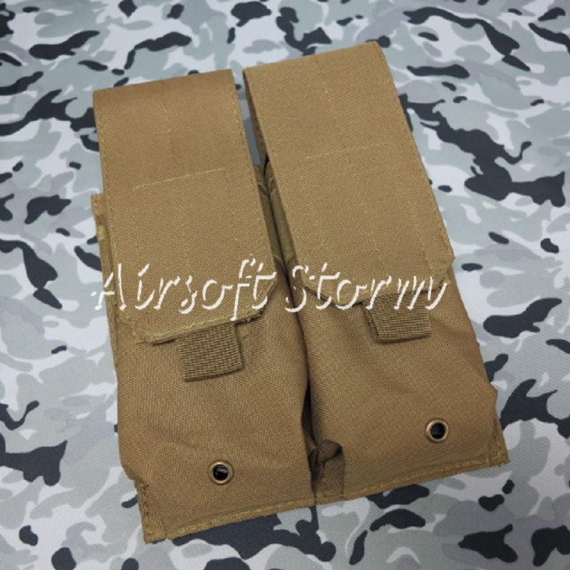 Airsoft SWAT Tactical Molle Assault Combat Double Magazine Pouch Coyote Brown