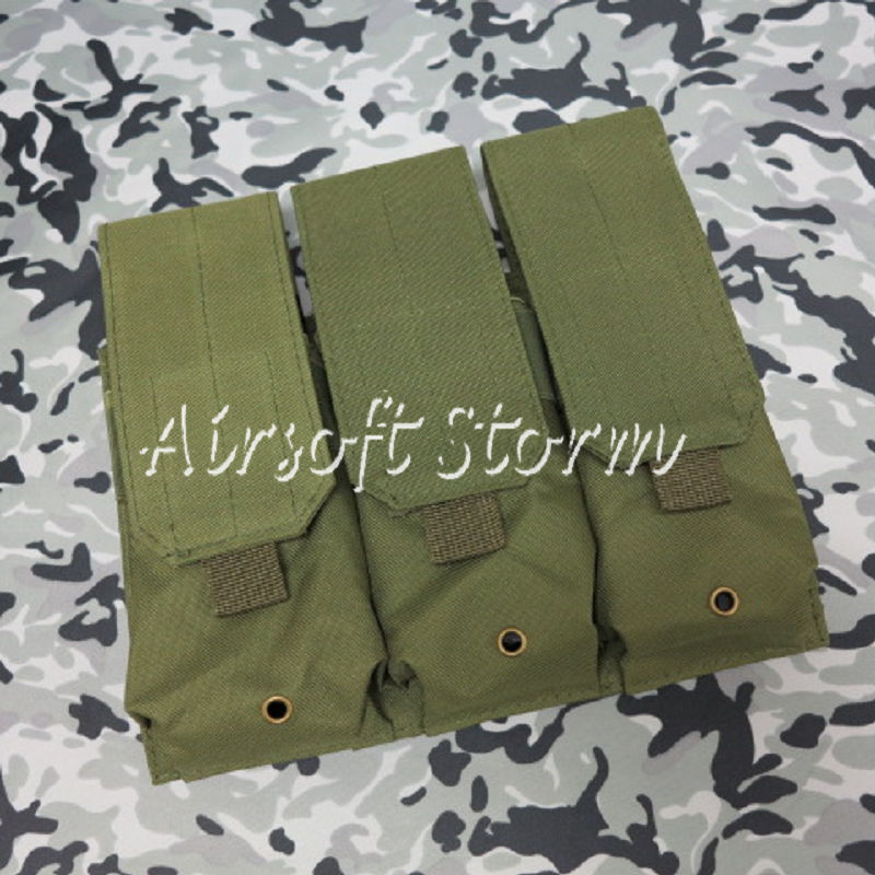 Airsoft SWAT Tactical Molle Assault Combat Triple Magazine Pouch Olive Drab OD