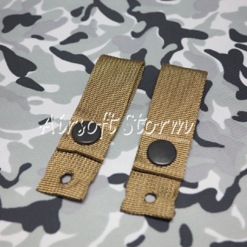 Airsoft SWAT Tactical Gear Helmet Universal Goggle Retention Straps Coyote Brown